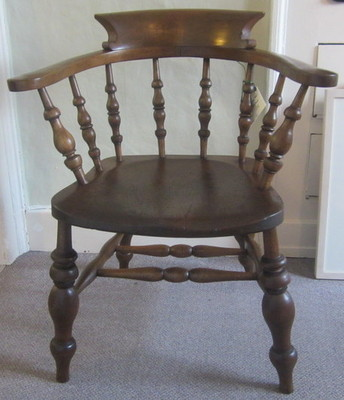 Antique Victorian smoker's chair