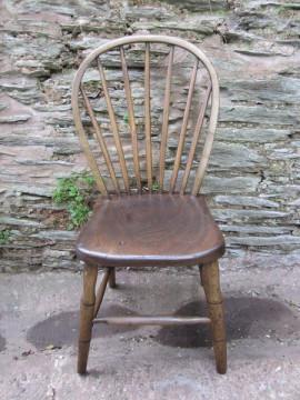 Antique Victorian elm chair
