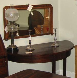 Antique Georgian mahogany demi lune table