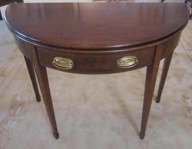 Antique Georgian mahogany tea table