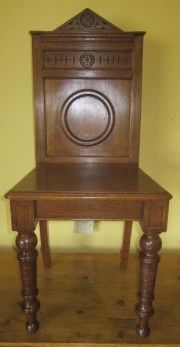 Collectible oak hall chair Arts and Crafts
