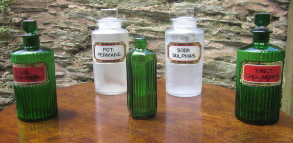 Chemist Pharmacy apothecary bottles