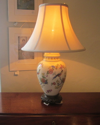 Edwardian ceramic table lamp