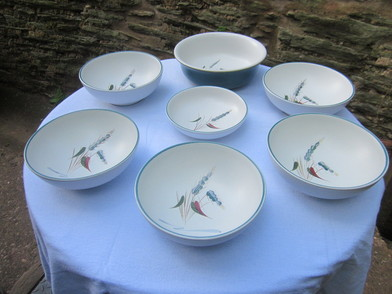 Denby Green Wheat Dinner Service