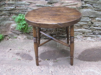 Antique rustic table / large stool